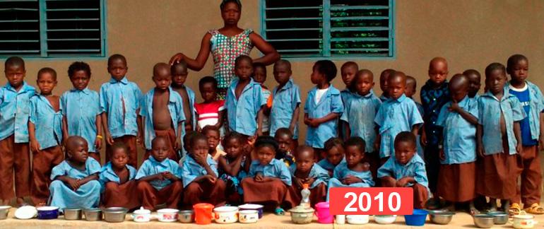 Proyecto de educación infantil: construcción de escuela en Sansana 2010