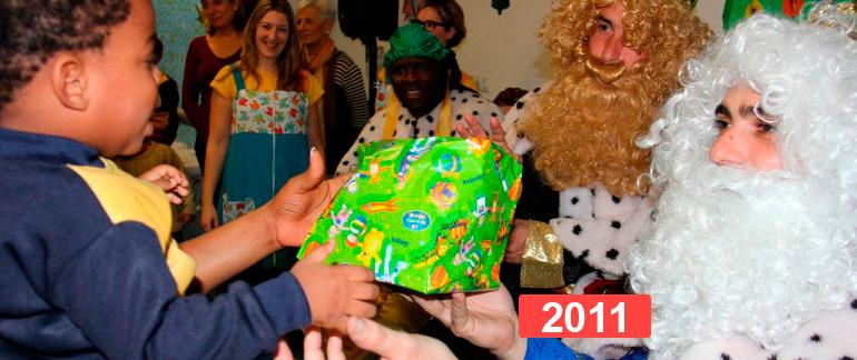Integración social: celebración fiesta de reyes en Madrid 2011