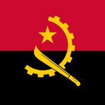 bandera de angola derecho a la alimentación