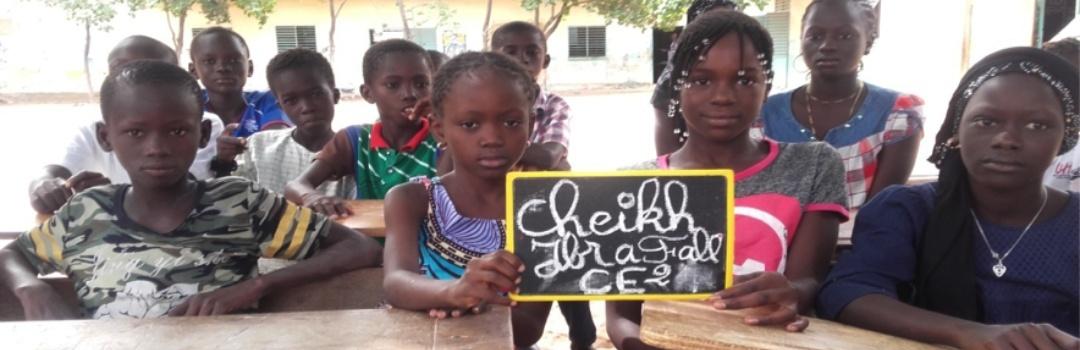 niñas y niños en escuela de Senegal | Inclusión educativa