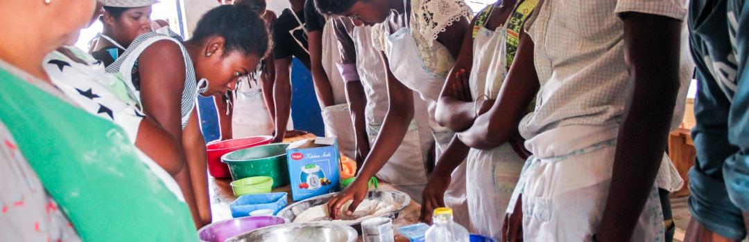 Niños en escuela infantil Carolina Baron 2 en Kinshasa