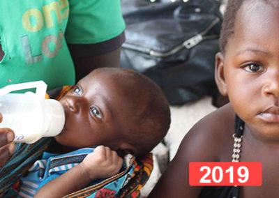 Proyecto de alimentación para la distribución de leche en Benga 2019