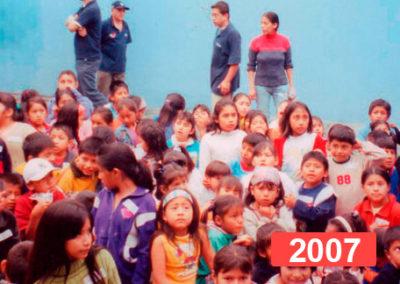 Comedor social para niños en Lima. 2007