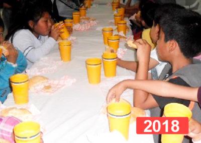 Comedor social para niños en Lima. 2018