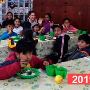 Comedor social para niños en Lima. 2019
