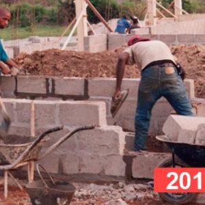 Construcción de escuela en Kahankro, Costa de Marfil 2010