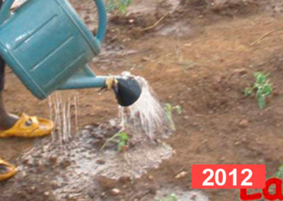 Escuela infantil: construcción de pozo en Sansana