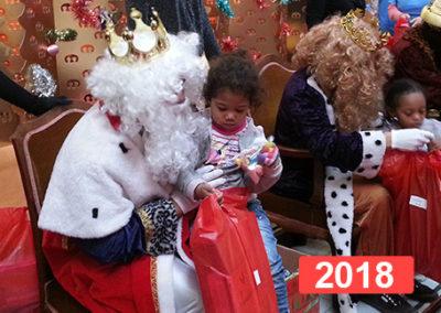 Integración social: celebración fiesta de reyes en Madrid 2018