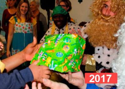 Integración social: celebración fiesta de reyes en Madrid 2017