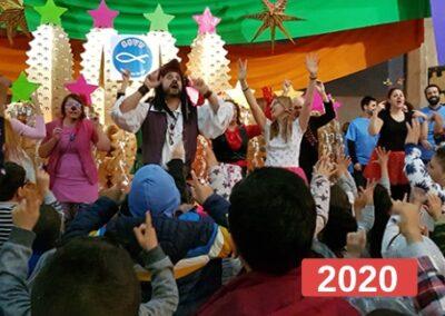 Integración social: celebración fiesta de reyes en Madrid 2020