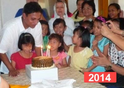 Orfanato de niñas en Manila, Filipinas 2014